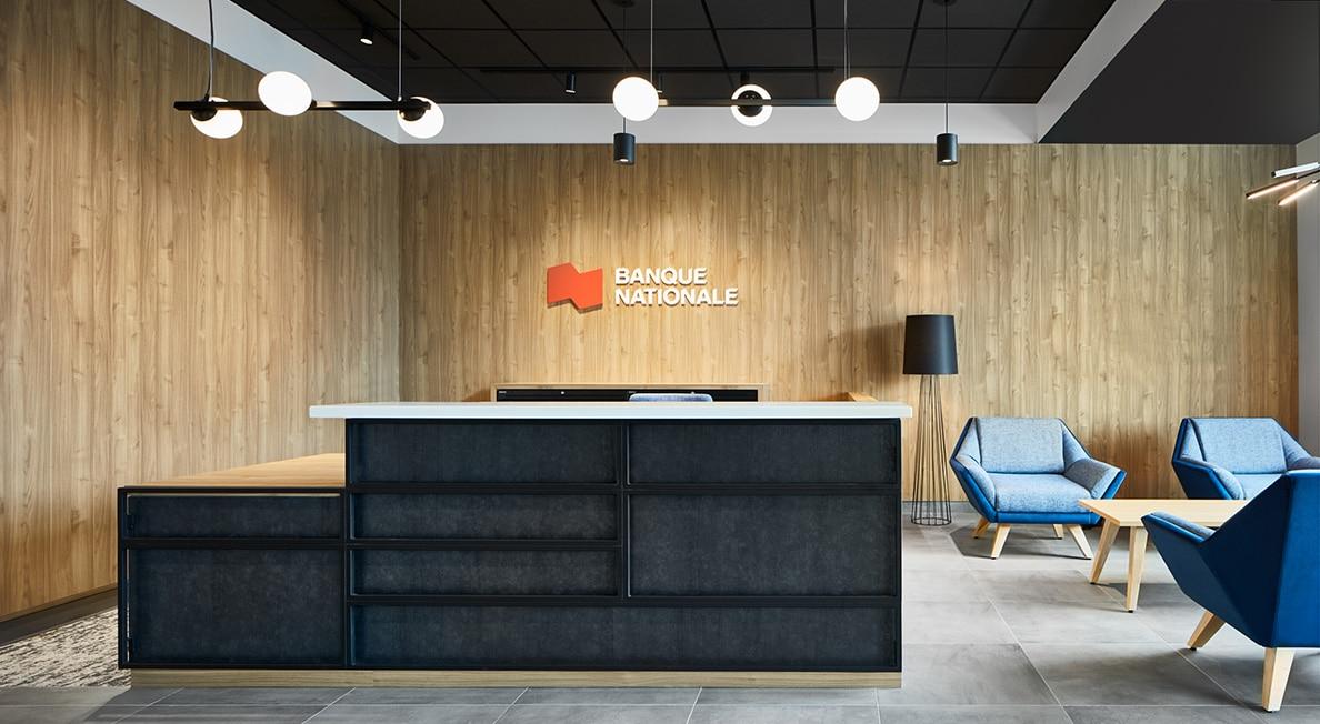 Réception au Centre d'appel Banque Nationale à Sherbrooke par VAD