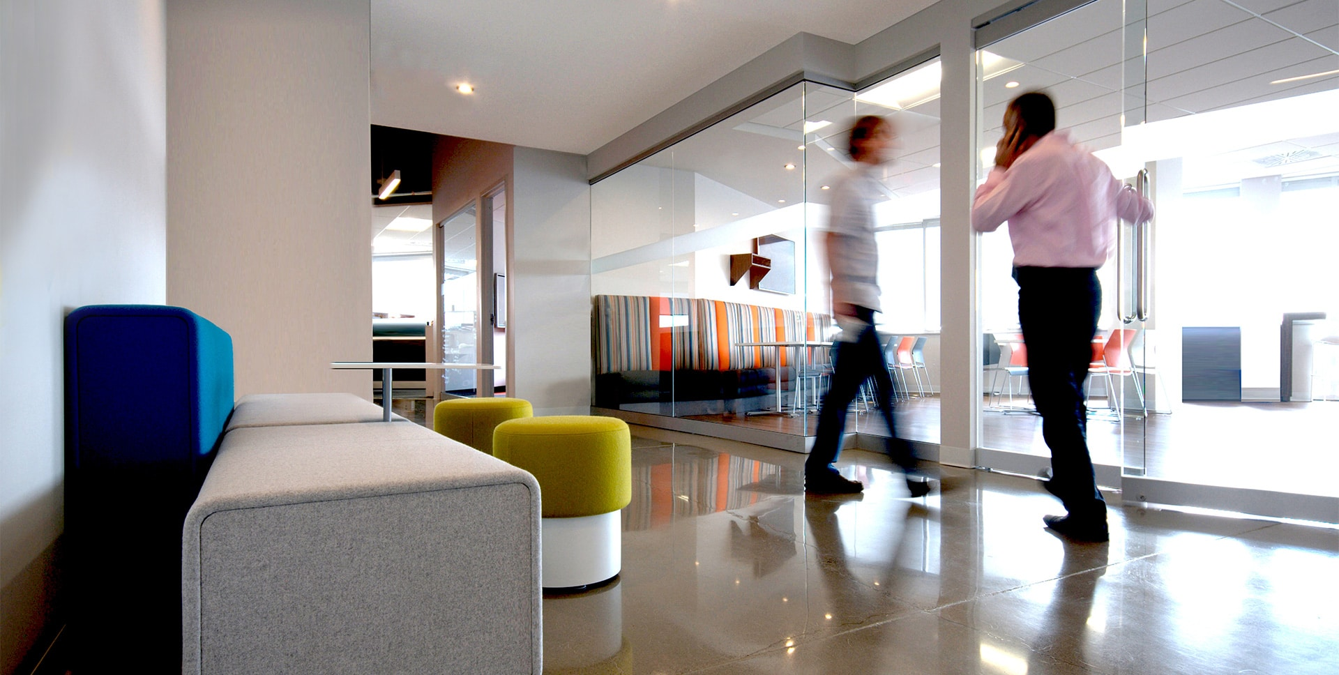 Hallway at Raglan Mine offices in Laval designed by VAD
