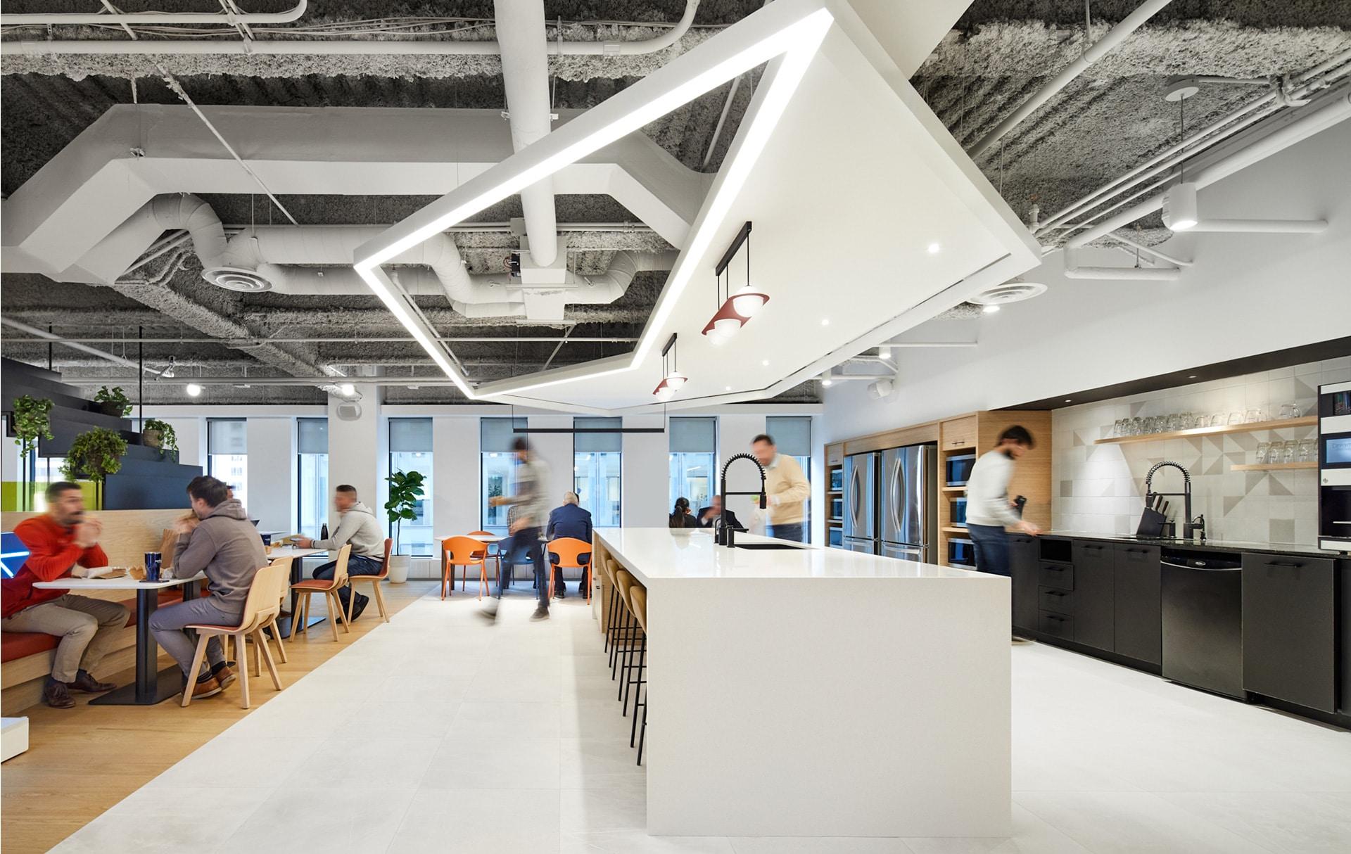 Cafeteria Station FinTech Montréal par VAD