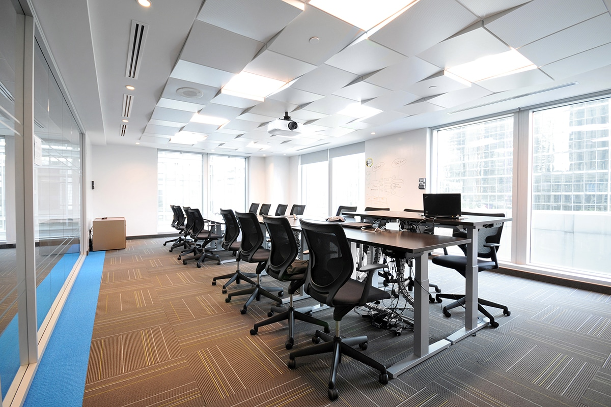 Meeting room at PSP Investments in Montreal designed by VAD