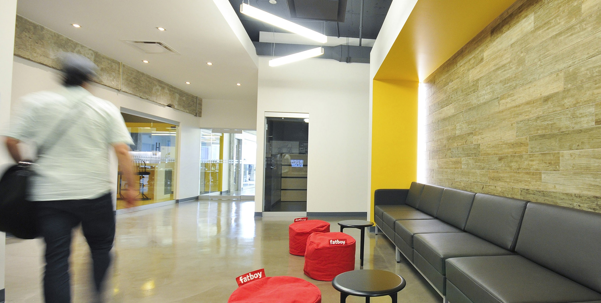 Entrance at SOVO Technologies office designed by VAD