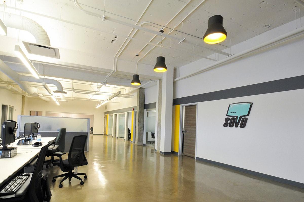 Bureaux SOVO Technologies par VAD Designers