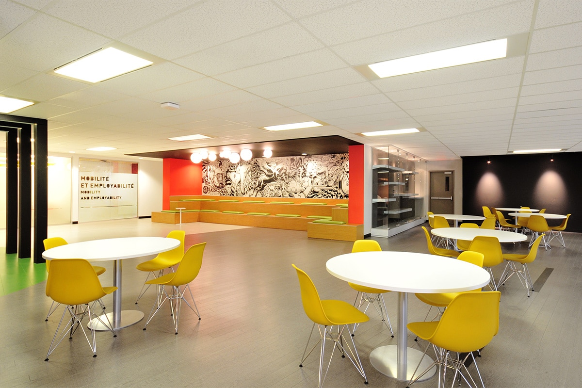Student corner at LaSalle College Montreal designed by VAD