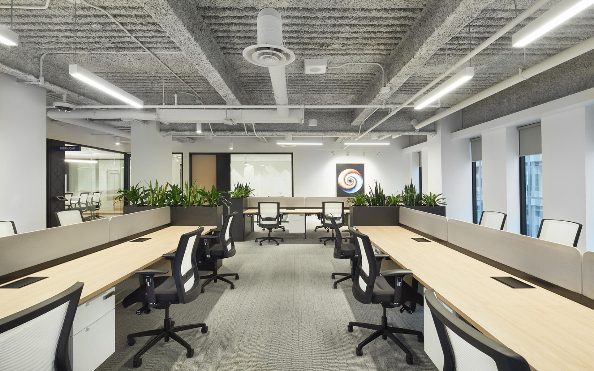 Postes de travail Station FinTech Montreal par VAD