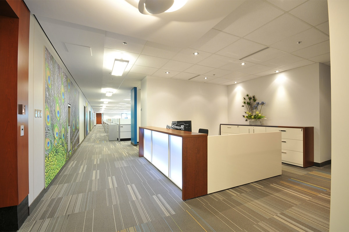 Hallway at PSP Investments headquarters designed by VAD