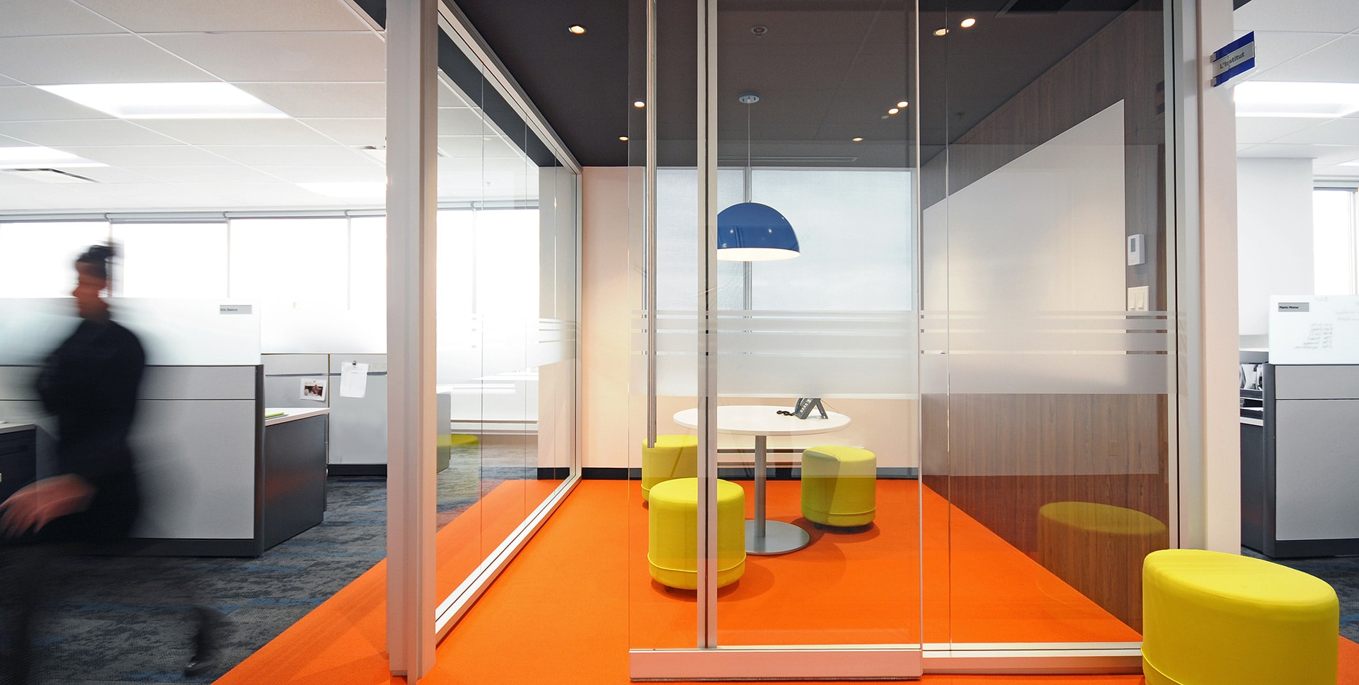 Meeting room at Hub International offices designed by VAD